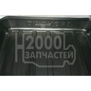 коврик багажника nissan qashqai j10 06-13 глубокий
