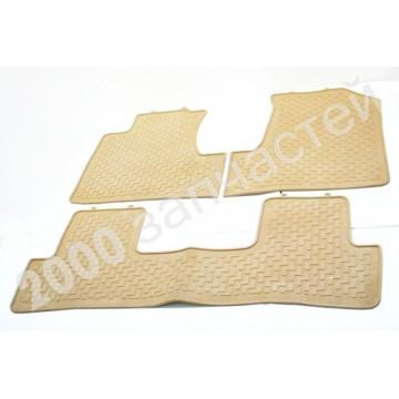 коврики Honda CRV 07- резина 3шт беж stardiamond