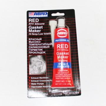 герметик прокладка abro красный