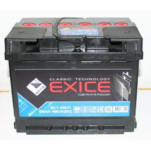 аккумулятор 55ач п/п exice cl.