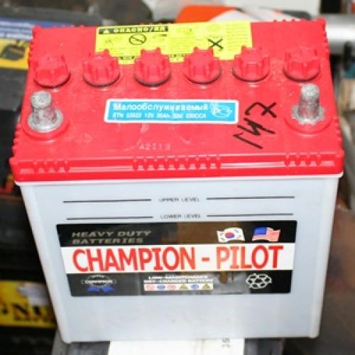 аккумулятор 35Ач п/п champion яп.клем.matiz