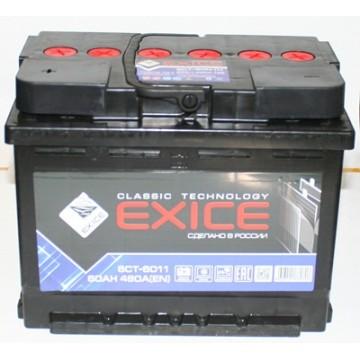 аккумулятор 60ач о/п exice cl.