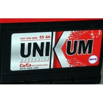 аккумулятор 55ач о/п Unikum