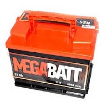 аккумулятор 55ач п/п mega batt
