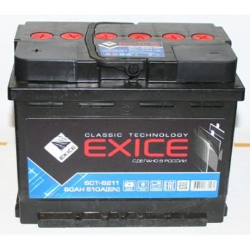 аккумулятор 62ач п/п exice cl.