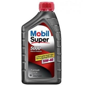 масло моторное Mobil super 5000 10w40 0.946л