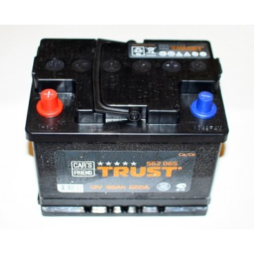 аккумулятор 60Ач п/п trust (5лет гар) 600а
