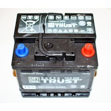 аккумулятор 55Ач о/п trust 540а