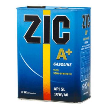 масло моторное ZIC A+ 10w40 полусинтетика 4л