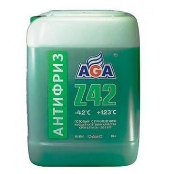 Антифриз AGA-42 050Z 10л зеленый