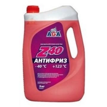 Антифриз AGA-40 002Z 5л красный