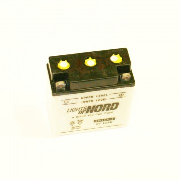 аккумулятор мото 6v 11 а/ч Сухозаряженный