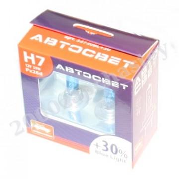 лампа h7 12-55 автосвет +30 blue к-т
