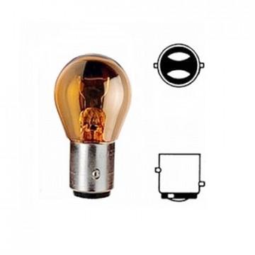 лампа 12-21-5 bay15d PY21/5W 2-х контактная янтарная
