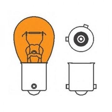лампа 12-21w ba15s / py21w желтая Hella