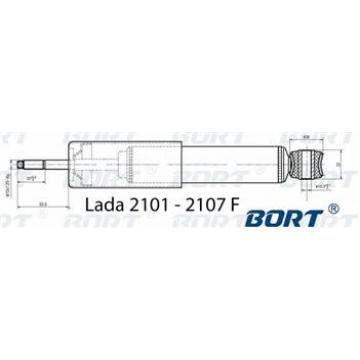 амортизатор ваз 2101 передний Bort газовый